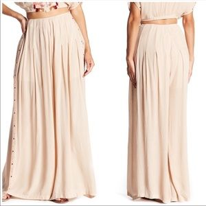 NWT Free people santoshi leg wide embroidered pant